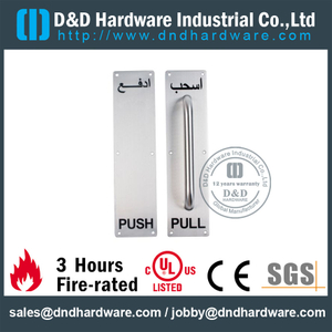 SUS304 Push Pull Handle on Backplate for Metal Doors with PVD -DDPH025