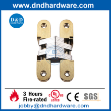 Zinc Alloy Polished Brass Stain concealed hinge for Heavy Door-DDCH007