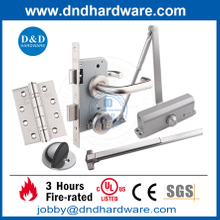 Stainless steel Fire Rated Emergency Escape UL CE Door Hardware for Interior doors
