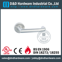 Stainless Steel 316 External Lever Handle with EN1906 for Security Metal Door-DDTH018