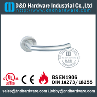 Stainless Steel 22mm Tube Fire Rated Hollow Door Handle for Office Wooden Door -DDTH011