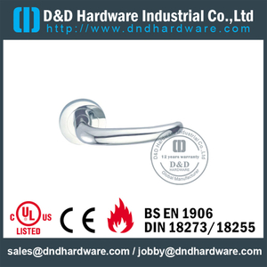 Designer Solid Lever Handle on Rose Concealed Fix for Commercial Doors -DDSH004
