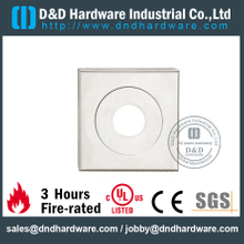 Stainless Steel Thread Type Square Escutcheon for Wood Door-DDES012