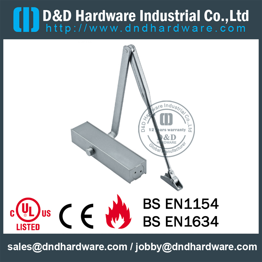 Aluminium Alloy Safety Y Type Door Closer For Metal Door