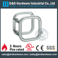 Stainless Steel Double Square Ring Door Pull Handle for Metal Door-DDPH040
