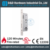 SUS304 Euro Key Operated Fire Rated Door Lock for Storeroom Steel Door -DDML013